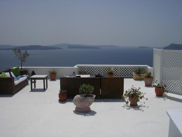 Santorini - Uitzicht op zee