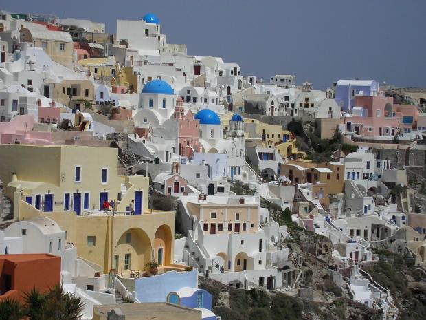 Hoofdstad Fira op Santorini
