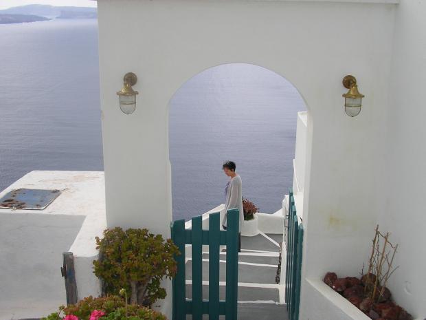 Mooi wit huis Santorini