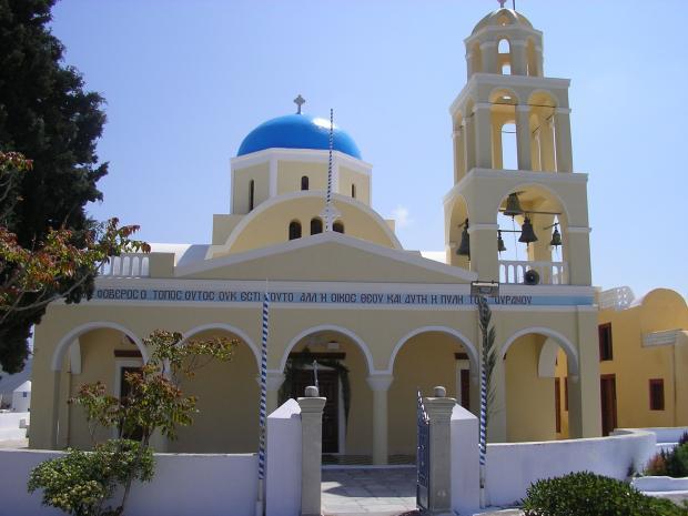 Kerkje in Oia