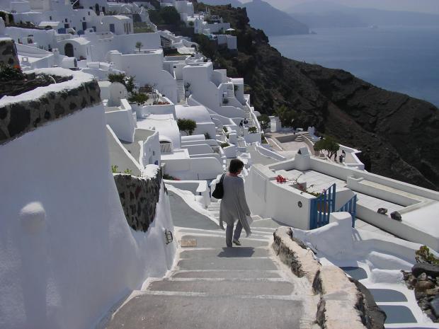 Witte huisjes in Santorini
