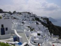Witte huizen in Santorini